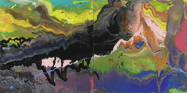 Gerhard Richter (German 1932-), 'Flow (P16)', 2016