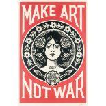 Shepard Fairey (American 1970-), 'Make Art Not War', 2018