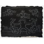 Keith Haring (American 1958-1990), 'Untitled (Subway Drawing), 1980s