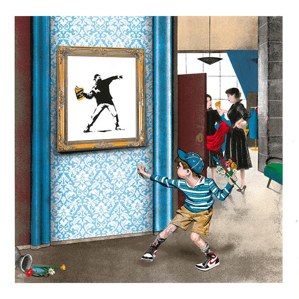 Mr Brainwash (French 1966-), 'Life Imitates Art', 2021