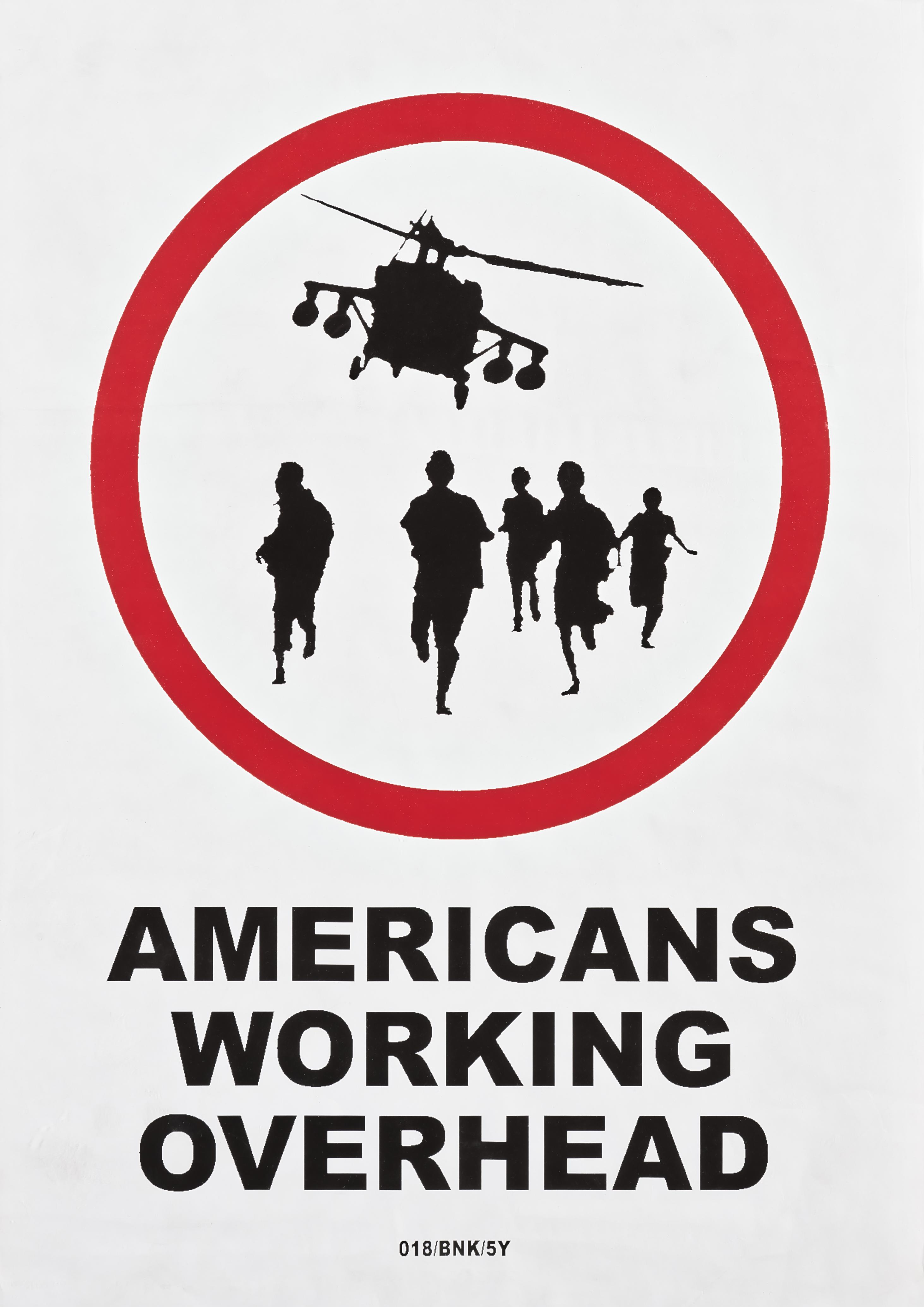 Banksy (British 1974-), 'Americans Working Overhead', 2004