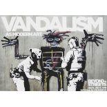 Banksy (British 1974-), 'Vandalism As Modern Art', 2018
