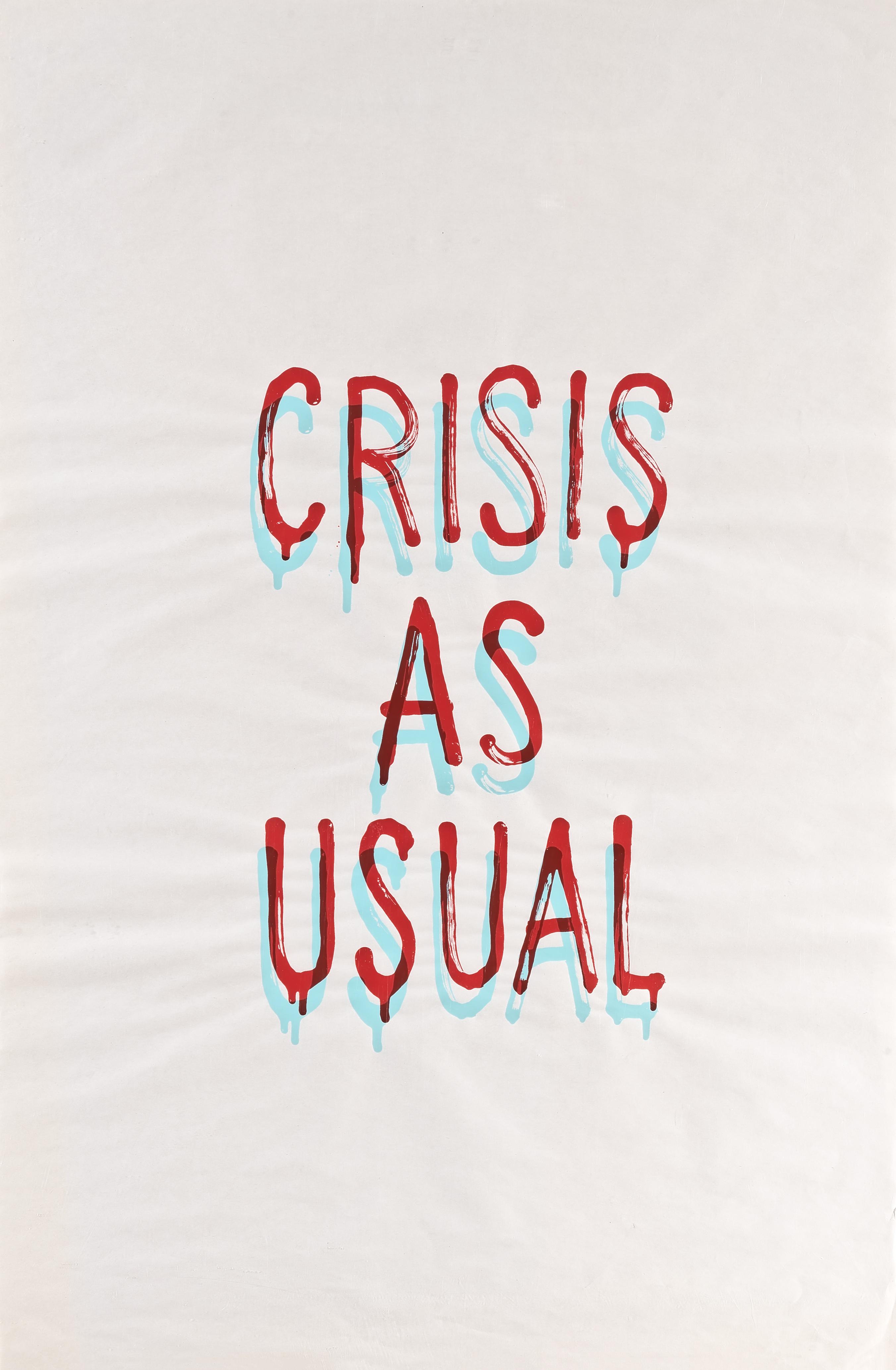 Banksy (British 1974-), 'Crisis As Usual', 2019
