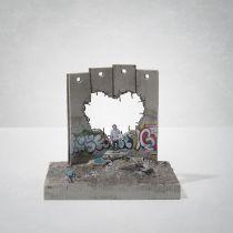 Banksy(British1974-),'WalledOffHotel-Four-PartDefeatedWallSection(LoveHurts)'