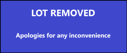 LOT REMOVED - APOLOGIES FOR ANY INCONVENIENCE