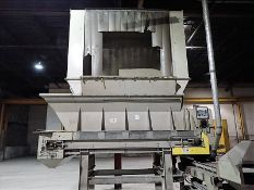 """Hopper w/ conveyor/agitator, approx. 32"""" x 12' (Subject to confirmation. The winner will be"""