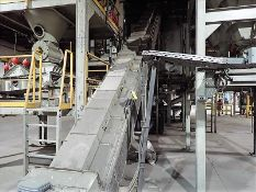 """Inclined conveyor, approx. 24"""" x 38' (Subject to confirmation. The winner will be determined based"""