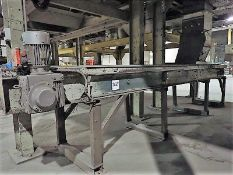 """Belt conveyor, approx. 24"""" x 16', power (Subject to confirmation. The winner will be determined"""
