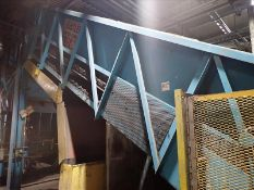 """Infeed elevated conveyor, approx. 57"""" x 23', steel fluted belt, power (Subject to confirmation."""