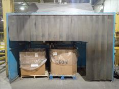 Loading booth, approx. 5' x 12' c/w directional belt conveyor, approx. 27 inch x 4 feet (Subject