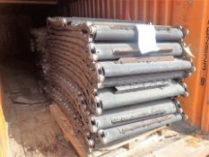 """Chain Shredding Line 1/2 spare parts: chain shredder infeed belt, approx. 40"""" fluted rubber belt"""