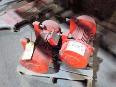 Glass Hammermill Line spare parts: (2) shaker conveyor motors, 1 hp c/w mounting bracket