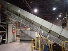 """Infeed conveyor, approx. 42"""" x 56', fluted belt, power (Subject to confirmation. The winner will"""