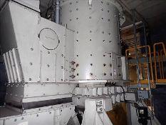 Retek chain shredder, mod. RKZ2000, 200 HP, 460 V c/w blower/dust extraction system & discharge