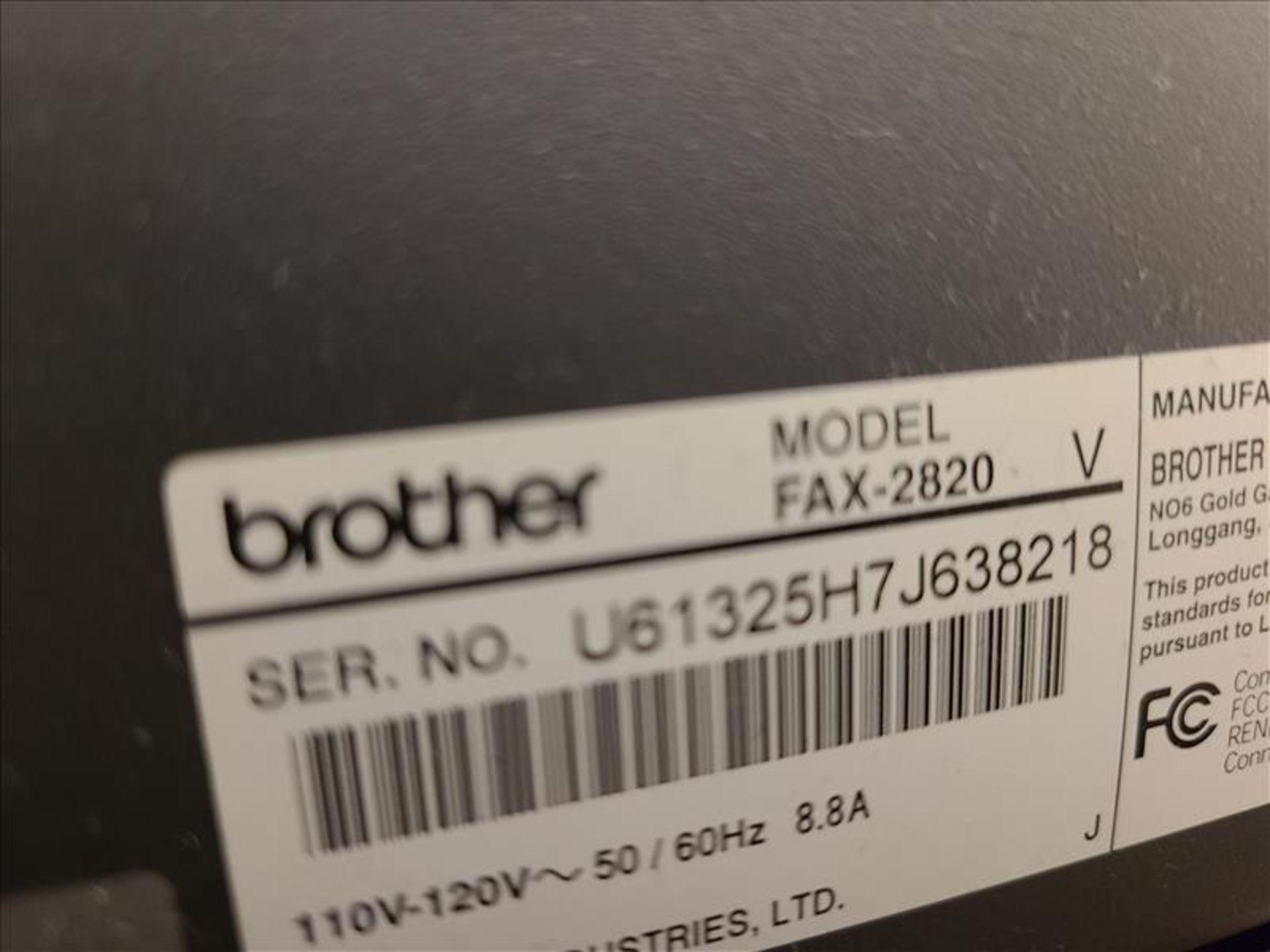 Brother Printer, model FAX-2820, S/N. U61325H7J638218 (2007) 110-120V, 50-60 Hz, 8.8 amps - Image 2 of 2