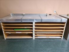 "Drafting Paper Organizer, 100"" x 38"" x 36"""