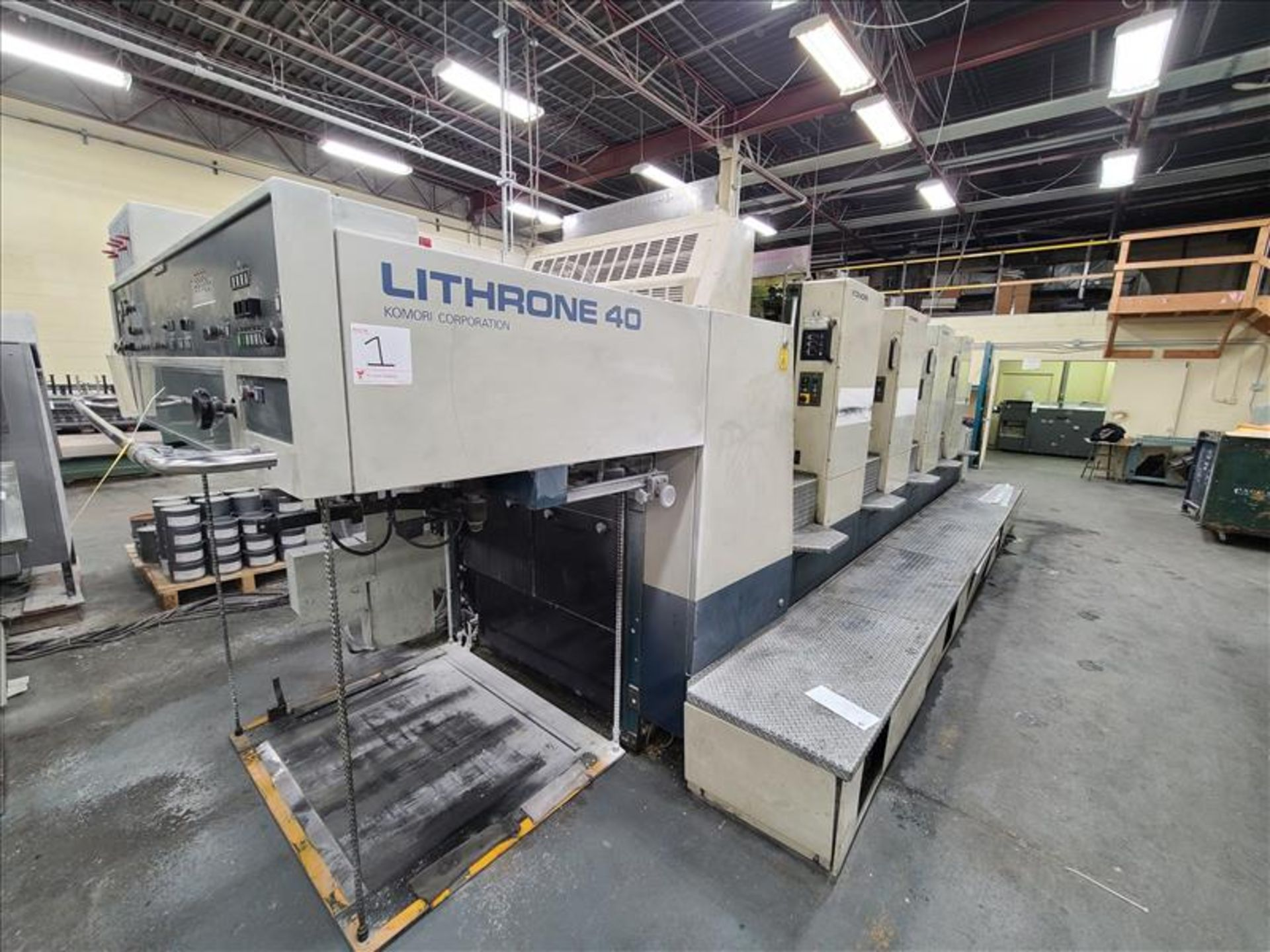 Komori 4-color offset printing press, Series Lithrone 40, model L-440, S/N.2202 approx. 68 - Image 2 of 22