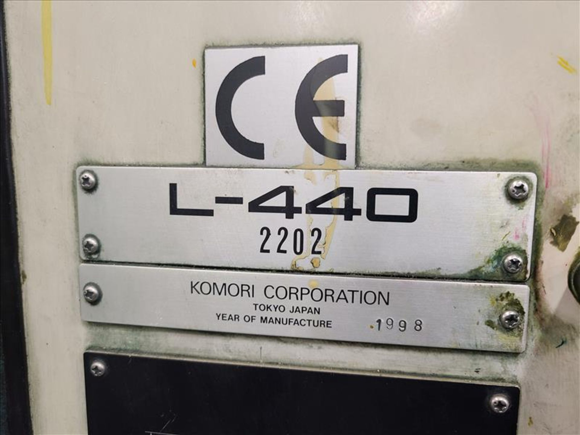 Komori 4-color offset printing press, Series Lithrone 40, model L-440, S/N.2202 approx. 68 - Image 9 of 22