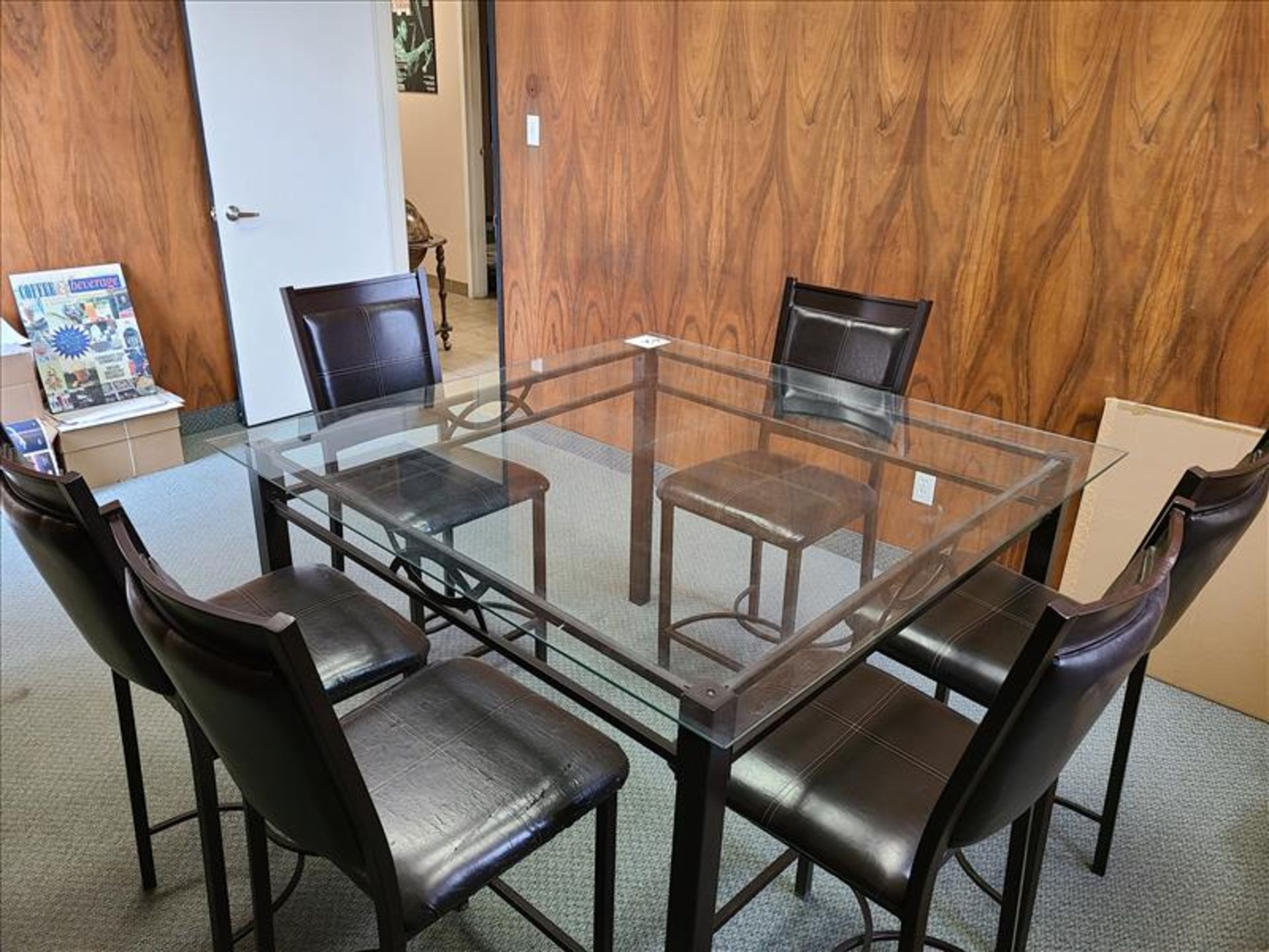 Glass Conference Table w/ Chairs - Image 2 of 2