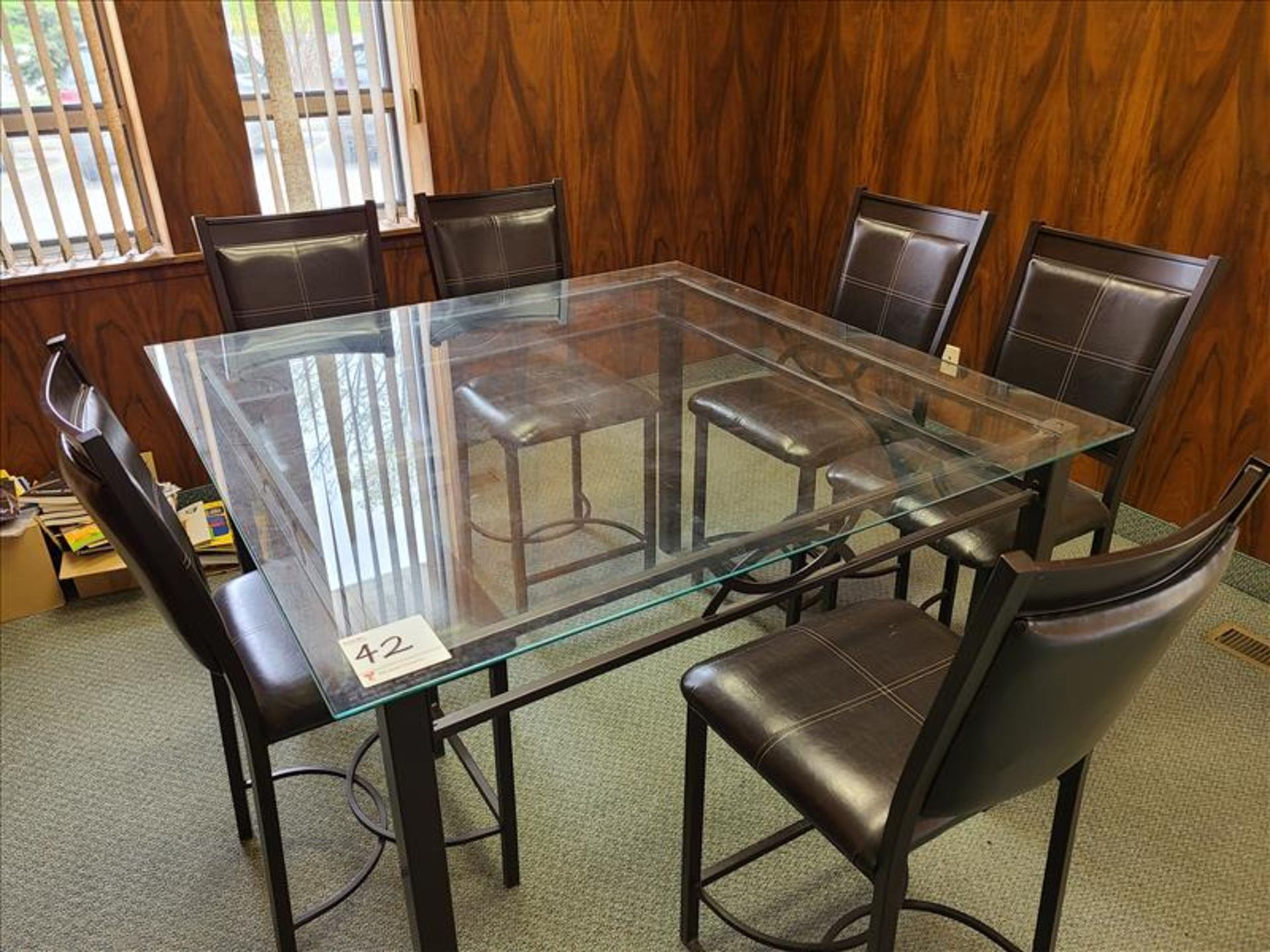 Glass Conference Table w/ Chairs