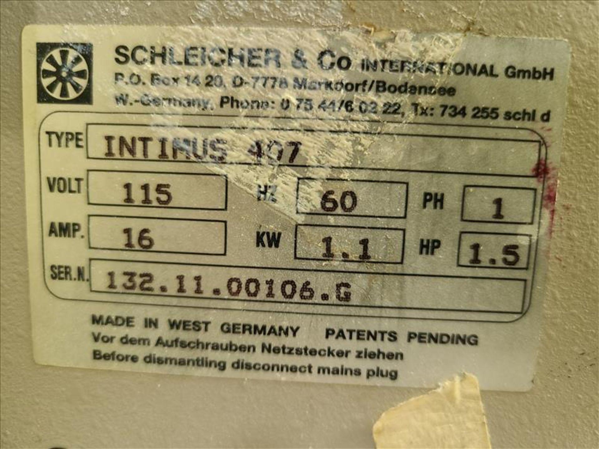 Paper Shredder, model Intimus 407, S/N. 1321100106G, 115V, 60 Hz, 16 amps, 1.5 hp - Image 2 of 2