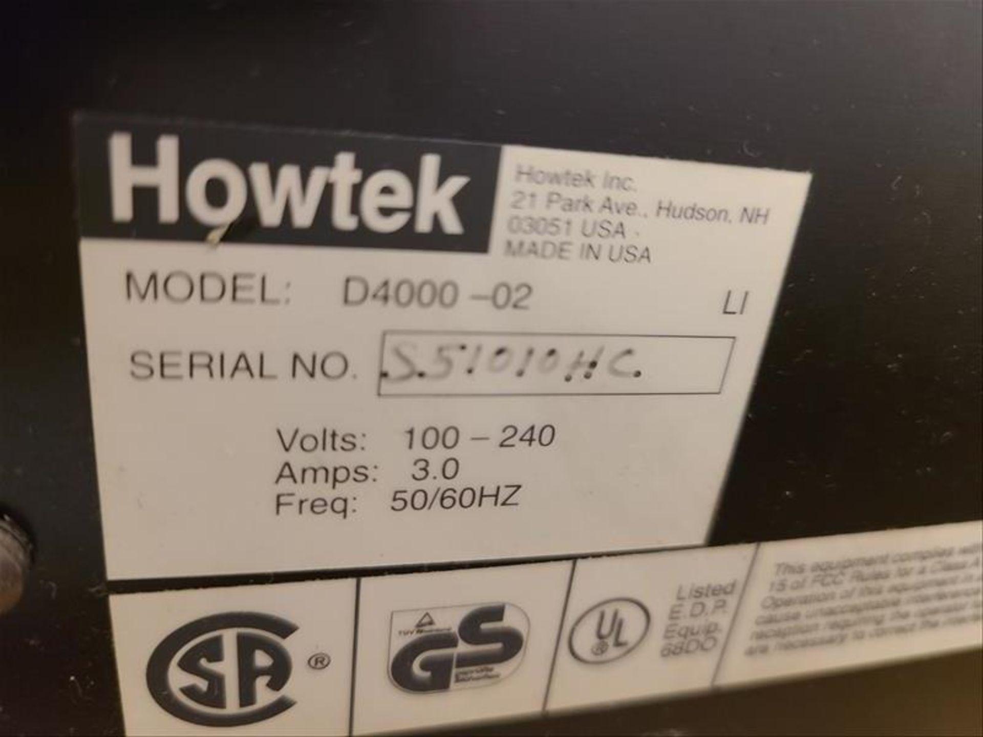 Howtek Drum Scanner, Scanmaster 4500, model D4000-02, S/N. S51010HC, 100-240V, 3 amps, 50Hz - Image 3 of 3