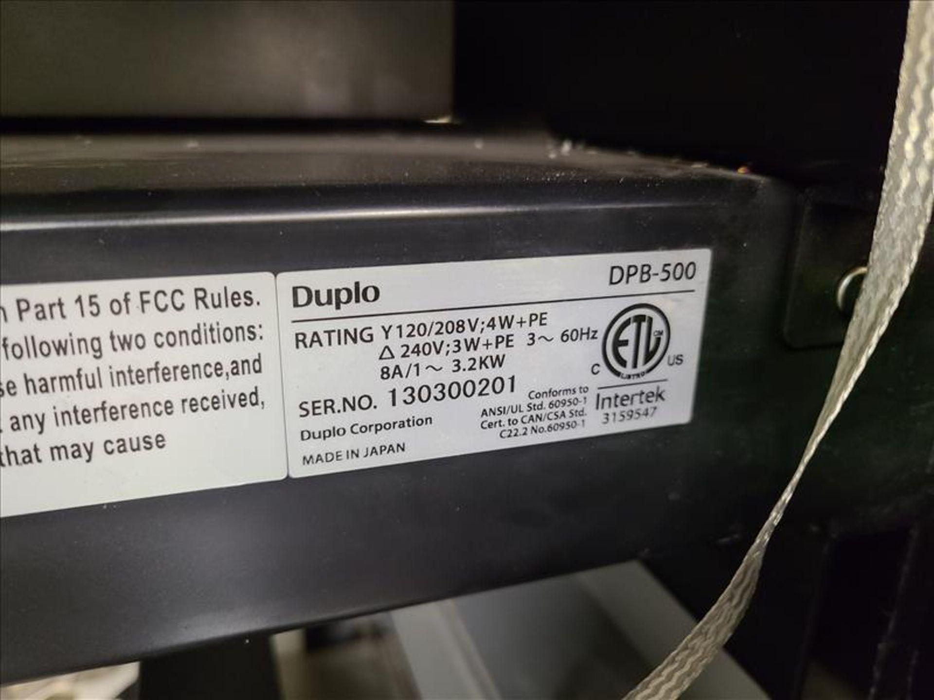 Duplo Perfect Binder, model DPB-500, S/N. 130300201 (2013) 240V, 60Hz - Image 6 of 6