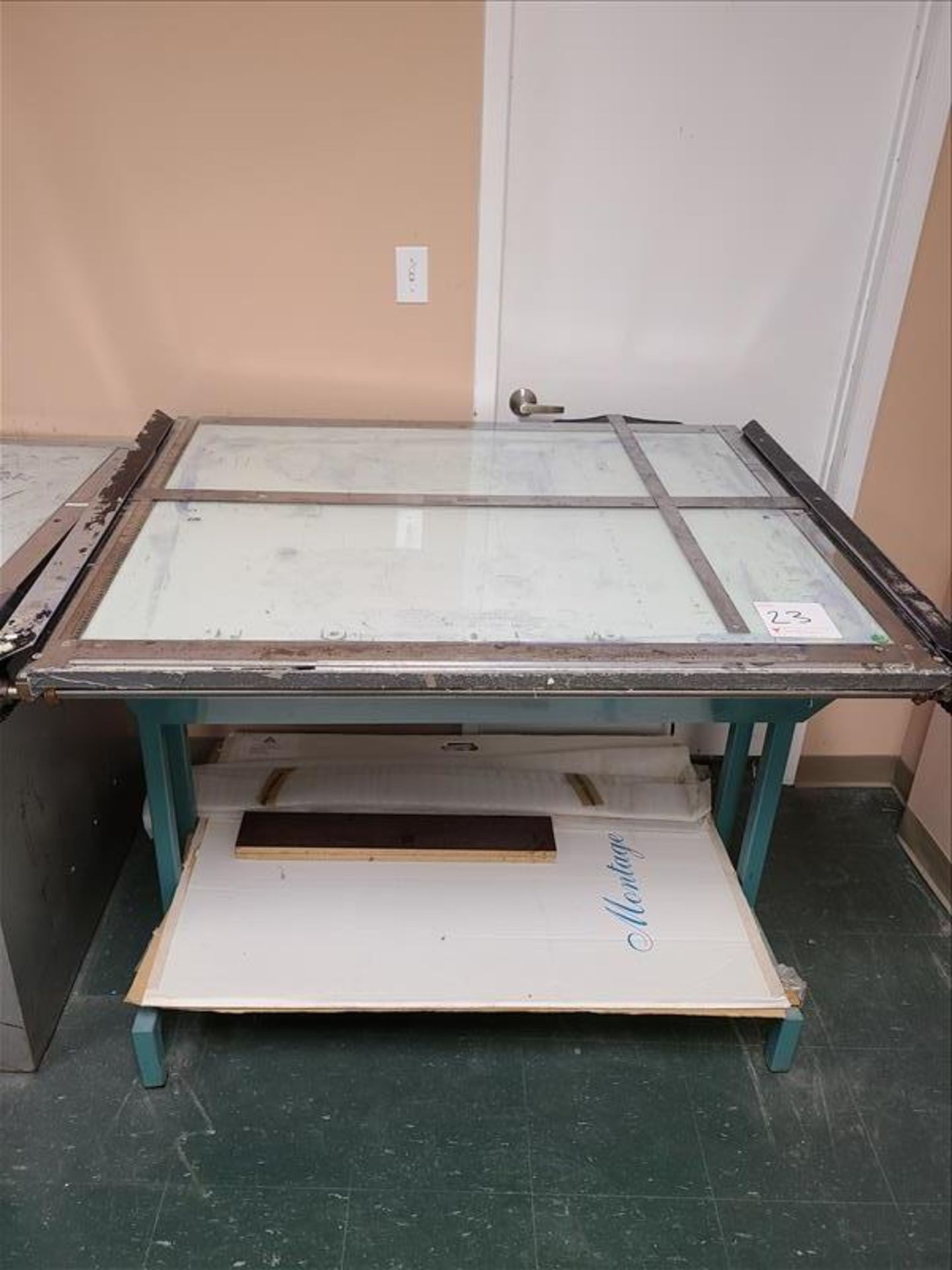 """Drafting Table w/ T-square, 53"""" x 44"""""""