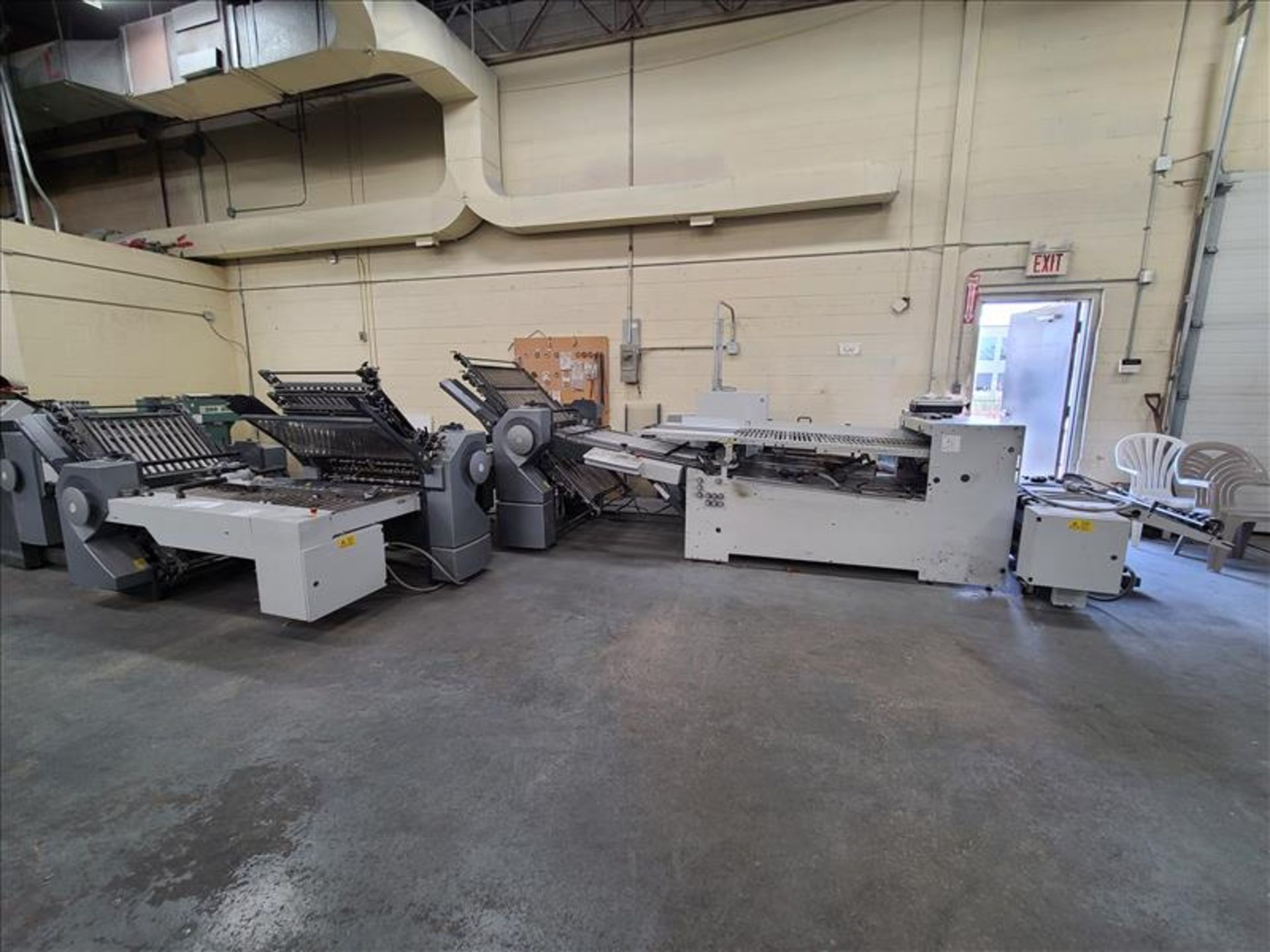Heidelberg Stahlfolder Folding Machine, model SPH-70, S/N. FH-DLA0-00369, w/ 2.5' infeed
