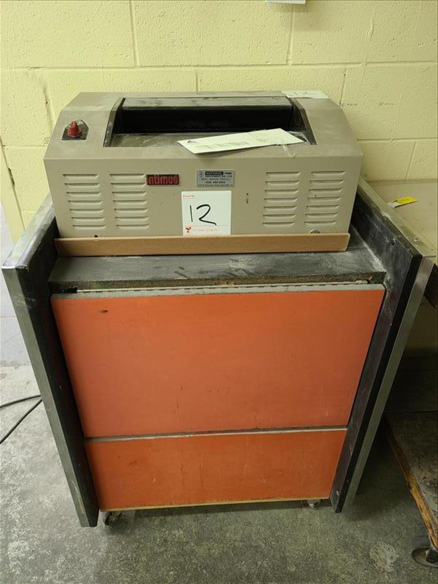 Paper Shredder, model Intimus 407, S/N. 1321100106G, 115V, 60 Hz, 16 amps, 1.5 hp