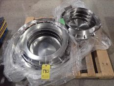 (2) s/s vibratory bowl heads for FeedRite Automation vibratory feeders