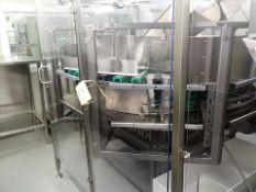 Hoppmann mod. FRS-60 centrifugal bottle descrambler/stand-up, s/s, 6' dia., ser. no. 15143 (