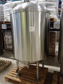 Price-Schonstorm s/s tank, approx. 250 USG cap., dimple jacketed, bottom discharge, ser. no. 579900