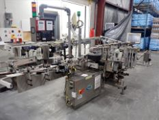 NJM/CLI automatic pressure sensitive labeller, mod. 125 Bronco/BR125-S012, ser. no. 19547-01 w/
