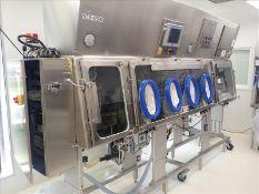 Walker Barrier Systems transfer isolation station/glovebox, mod. AMP2000, ser. no. 35065, s/s, 4-
