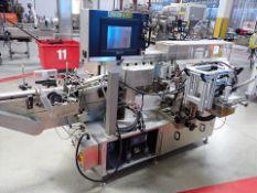 NJM/CLT mod. 334 Charger pressure sensitive labeller, 1.25 hp, ser. no. 334VLSTP-333-M06J0044