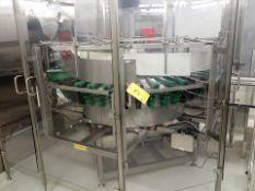 Hoppmann mod. FRS-60 centrifugal bottle descrambler/stand-up, s/s, 6' dia., ser. no. 31151 (