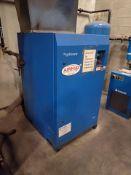 Hydrovane rotary vane air compressor, 60 hp, approx. 25000 hrs., mod. V45ACE08-5736D0509, ser. no.
