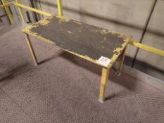 "steel table, 24"" x 48"""
