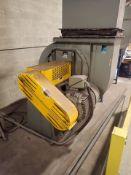 CincinnatiFan backward inclined blower, 75 hp, mod. HDBI-330, ser. no. 1312648 w/ vibration pads and