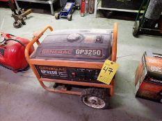 Generac Portable Generator, model GP3250, w/ 208cc OHV four stroke engine, 120V, 3.5 gallon fuel