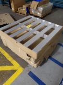 "[LOT] (3) aluminum pallets, 48"" x 48"" [Packaging Warehouse]"