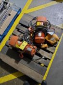 [LOT] (2) electric chain hoists, .5 ton cap. [Packaging Warehouse]