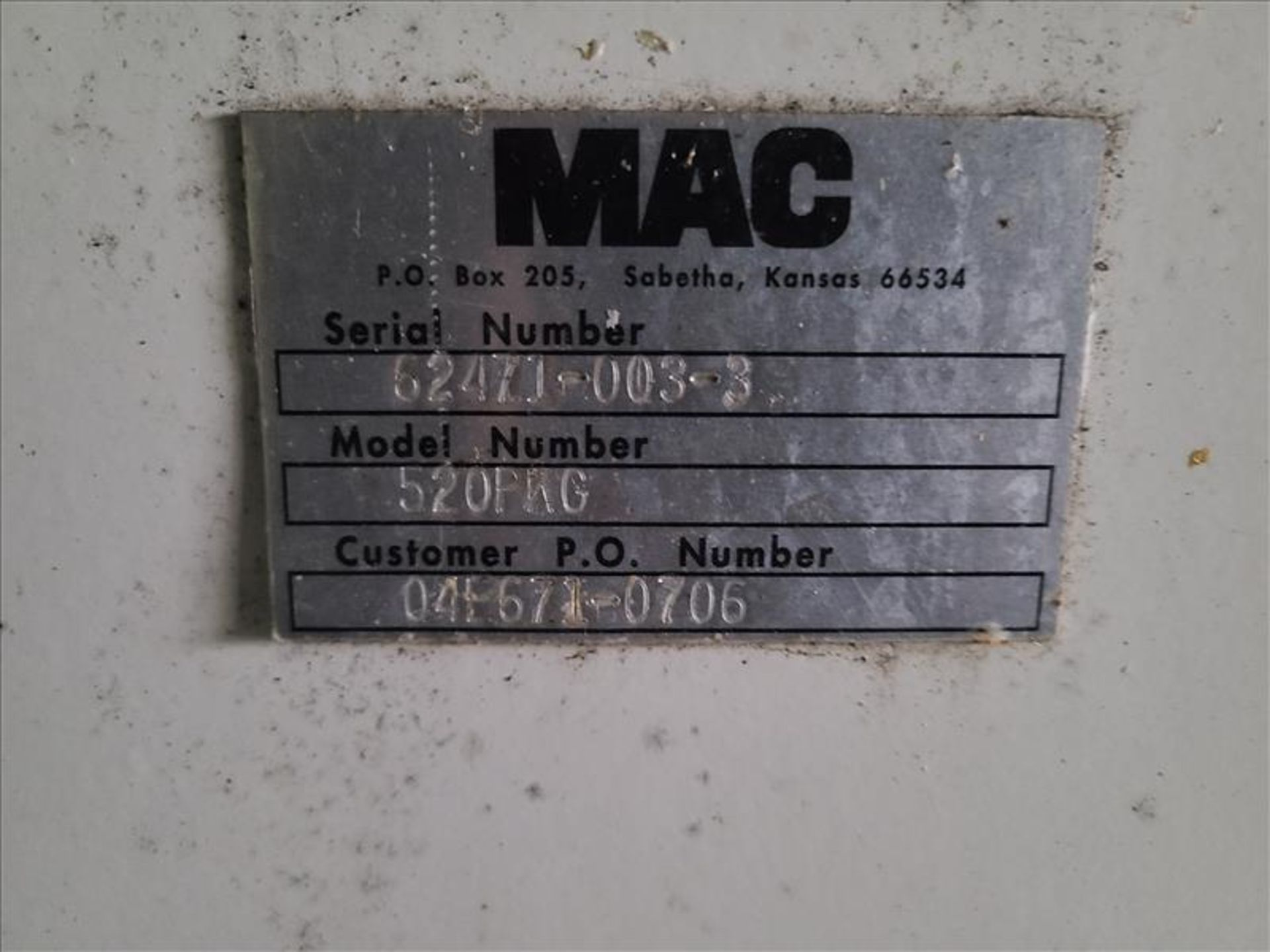 [LOT] (3) MAC stand/frames, with muffler [Storage Shed] - Image 7 of 7