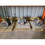 (3) 60 HP Electric motors: (1) Emerson motor, 60 hp, 575 v, 3 ph, 365T frame, 1785 rpm; and (2) US