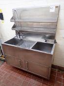 "s/s sink, 2-basin, 24"" x 50"" [Ingredients Lab]"