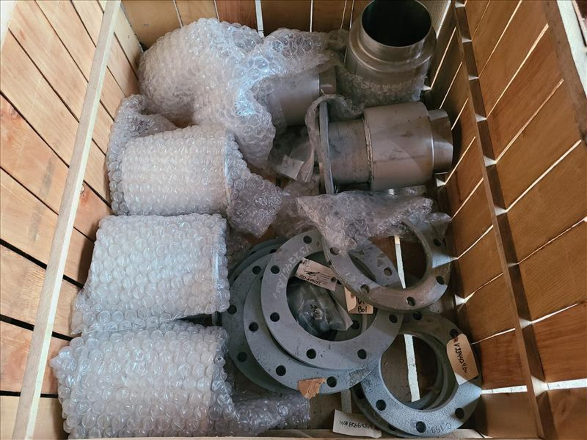 [LOT] Stainless flanges in (2) crates [Storage Shed] - Image 2 of 3
