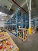 """[LOT] 28 section pallet rack, 16'h x 44""""w, (36) upright, (167) 8' cross bar [Packaging Warehouse]"""