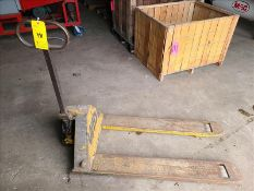 Lift Rite pallet jack, 458 lb. cap. [Storage Shed]