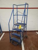 4 step safety ladder, mobile [Packaging Warehouse]